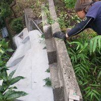 竹之丸 擁壁解体、新設CPブロック据付け工事_190920_0004
