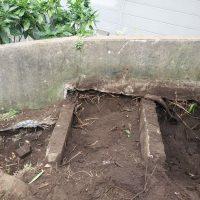 竹之丸 擁壁解体、新設CPブロック据付け工事_190920_0011
