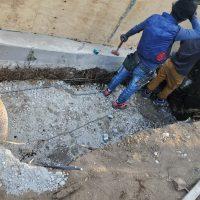 竹之丸 擁壁解体、新設CPブロック据付け工事_190920_0034