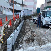 共済病院 ブロック舗装工事_200326_0004