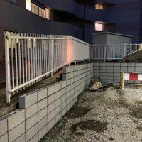 共済病院 ブロック舗装工事_200326_0008