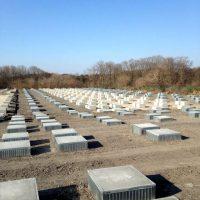 メガソーラー(太陽光発電)の基礎工事、約7万坪を施工させていただきました。